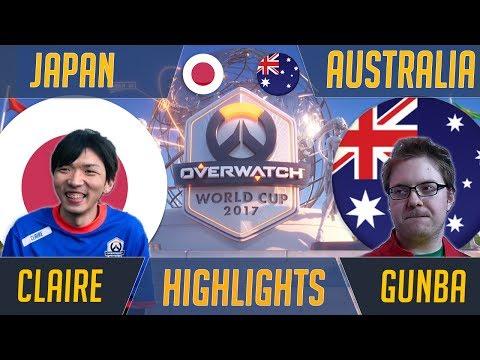 Japan vs Australia - Aetar & ieatuup Clean Up   Blizzard Overwatch World Cup 2017 Esports Highlights