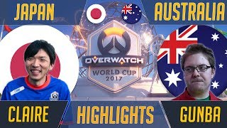 Japan vs Australia - Aetar & ieatuup Clean Up | Overwatch World Cup 2017 Esports Highlights