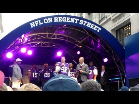 NFL Chad Greenway @ Regent Street 2013