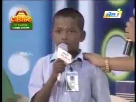 Avoid Plastics - Small Boy Speech video in Tamil