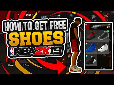 HOW TO GET FREE SHOES IN NBA 2K19! FREE CUSTOM SHOES
