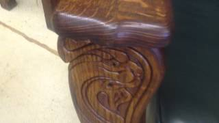 Quarter-sawn Oak Morris Chair With Winged Griffins