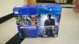 Unboxing Sony PlayStation 4 Slim 1 TB with Uncharted 4 and Uncharted Collection