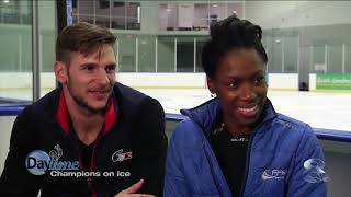 French figure skaters Vanessa James and Morgan Cipres