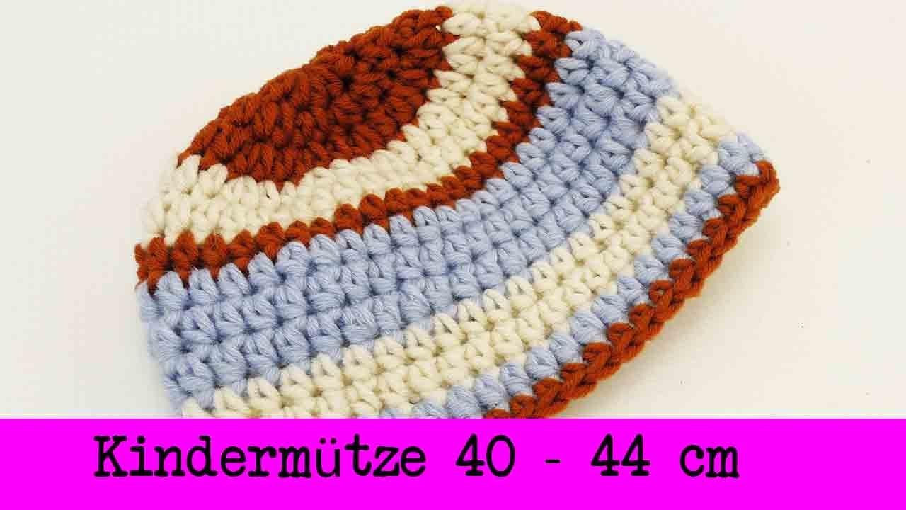 Kindermütze Häkeln Winter Mütze Größe 40 44cm Unsichtbarer