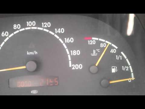 Неисправность проводки датчика температуры охлаждающей жидкости Mercedes Benz Vito W638