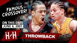 Allen Iverson LEGENDARY Game 1 Highlights vs Lakers 2001 Finals - 48 Pts, Crossover On Tyronn Lue!