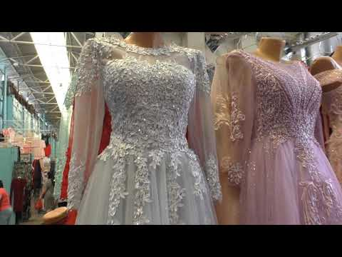 Вечерние ,бальные  платья на выпускной с бисером , вышивкой ,рынок Дордой ,Бишкек