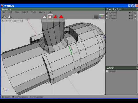 Wings3D: Modeling a 3 blade prop (3 of 3)