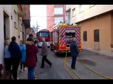 Incendio en una panadería de Monforte
