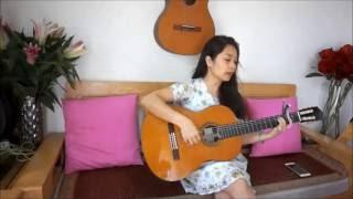 guitarcover Nhìn những mùa thu đi (Trịnh Công Sơn) - Phương mít