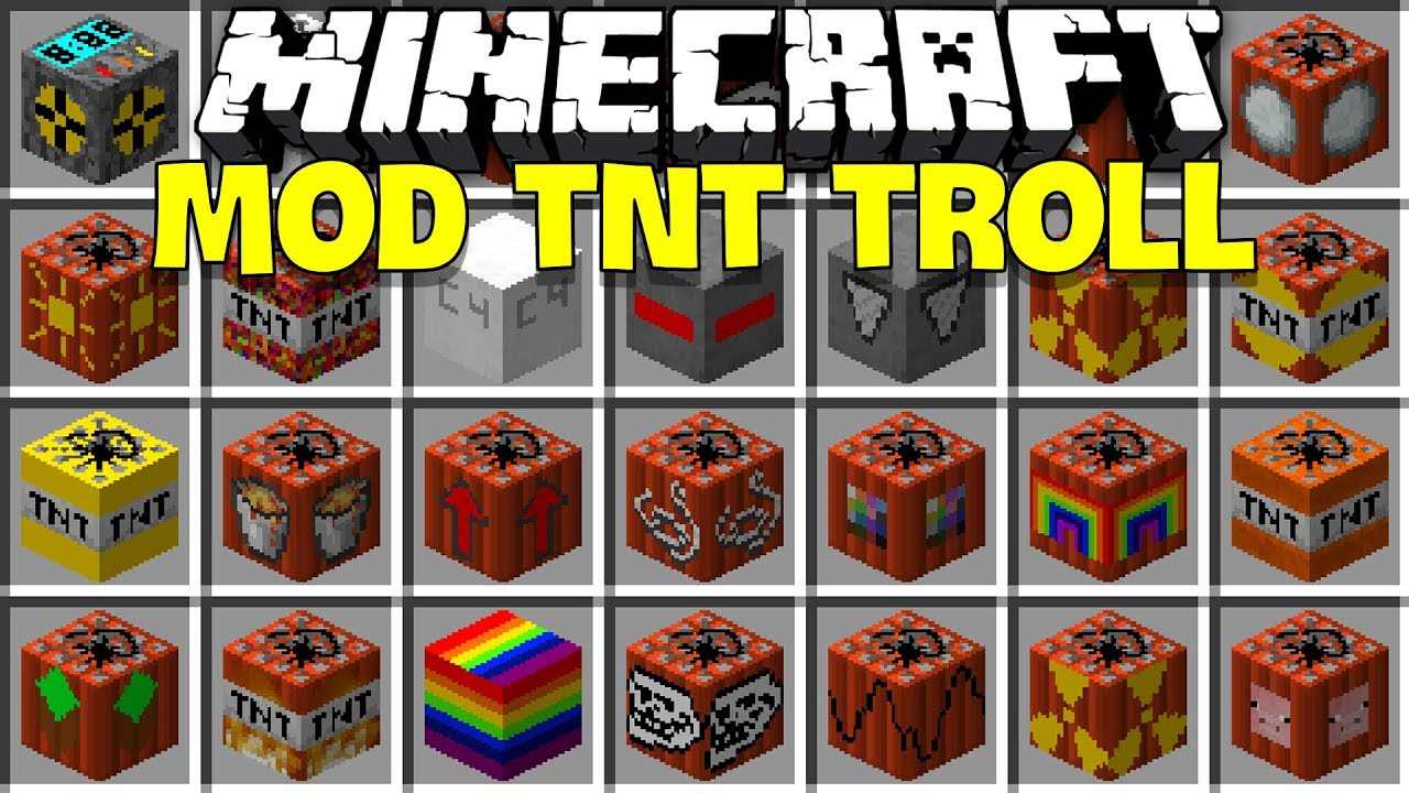 MINECRAFT MOD TNT TROLL BẠN BÈ SIÊU ỨC CHẾ*KẾT HỢP TNT 9000 NỔ BANH THẾ GIỚI MCPE