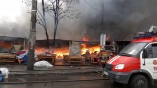 Масштабный пожар на самом большом Секонде Европы 25.12.2016 / Закрыты станции метро