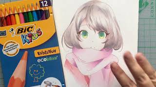 BIC COLORED PENCILS - REVIEW