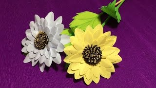 How to make(Fold) origami sunflowers easy/DIY Sunflower paper craft/sunflower paper tutorial