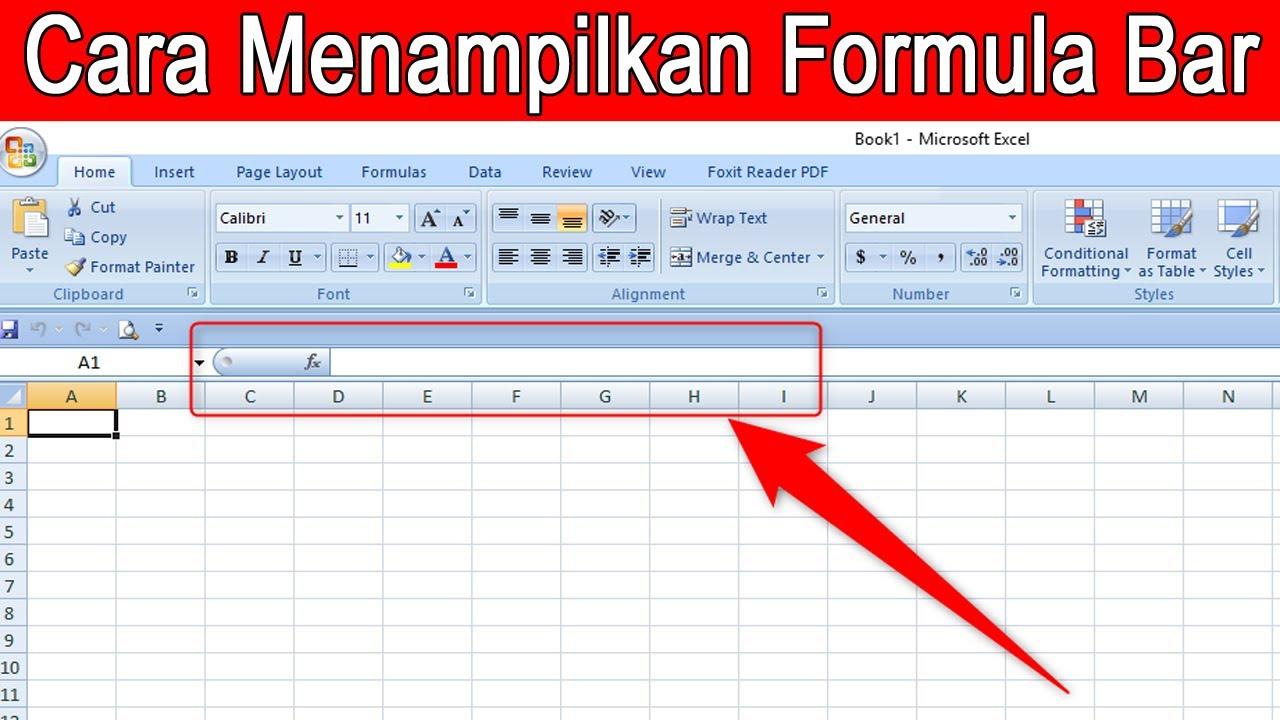 Cara Menampilkan Formula Bar Pada Microsoft Excel Youtube