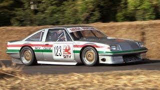 "Vauxhall Cavalier Mk1 V8 ""Mega Bertha"" Super Saloon car in action!"