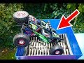 RC CAR JUMPING INTO THE SHREDDING MACHINE