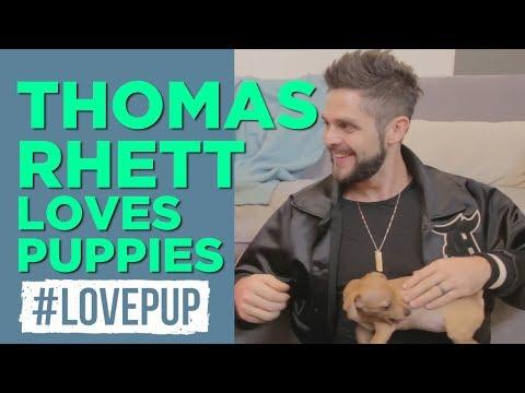 Thomas Rhett Talks Growing Up, Kids and Puppies!