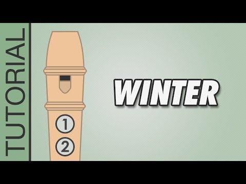 Vivaldi - Winter - Recorder Notes Tutorial