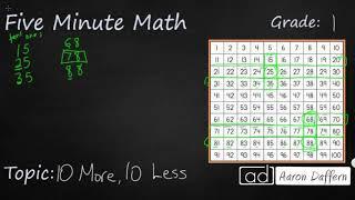1st Grade Math 10 More 10 Less