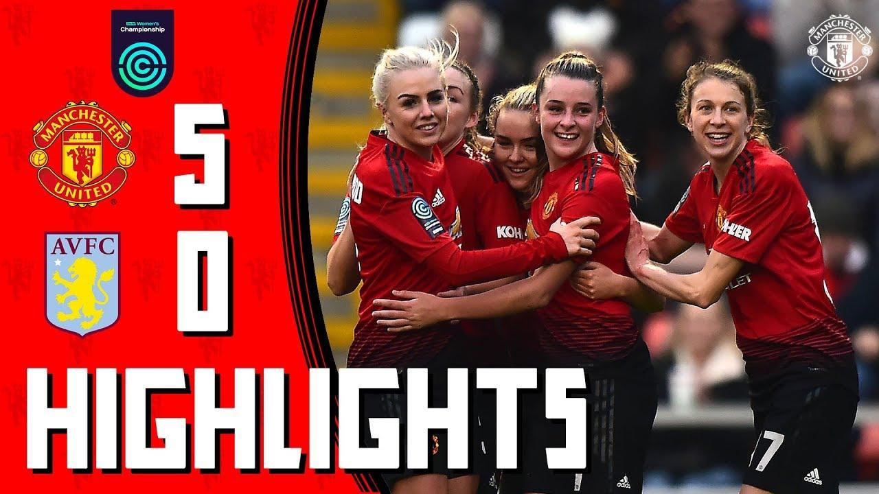 Highlights | Manchester United Women 5-0 Aston Villa Ladies | FA Women's Championship