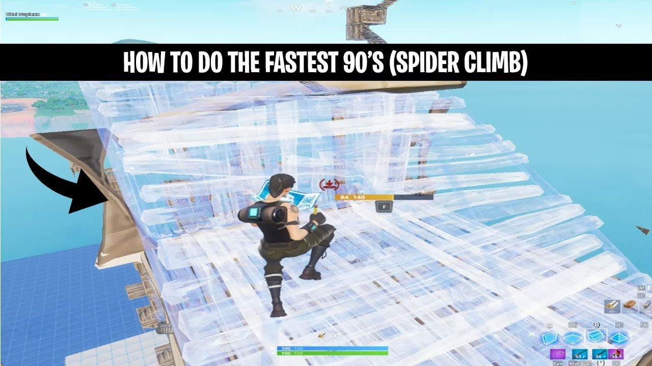 The Fastest 90 S In Fortnite Tutorial Spider 90s Fearchronic