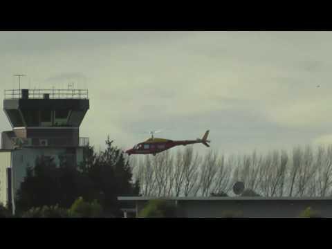 WESTPAC AIR AMBO  BELL 222B  HAMILTON AIRPORT