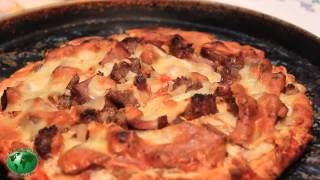 Farmhouse Pizza Steak And Onion With Sausage N Cheeses Day 189 Nonstop Bbq With Jimbo Jitsu