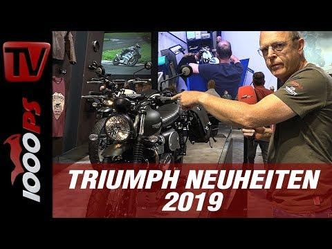 Triumph Neuheiten 2019 - 900er Modelle neu auf der INTERMOT - Scrambler und Street