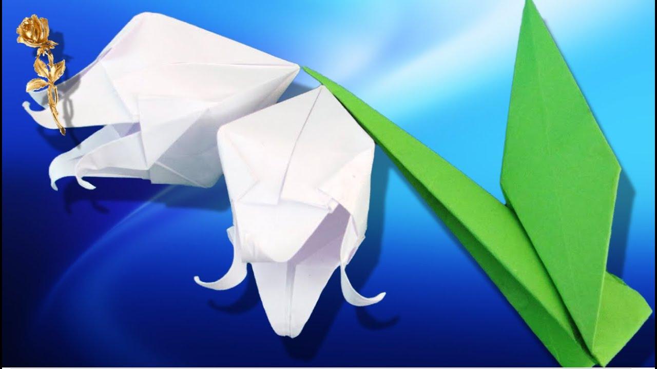 Origami fleur de muguet youtube - Youtube origami fleur ...