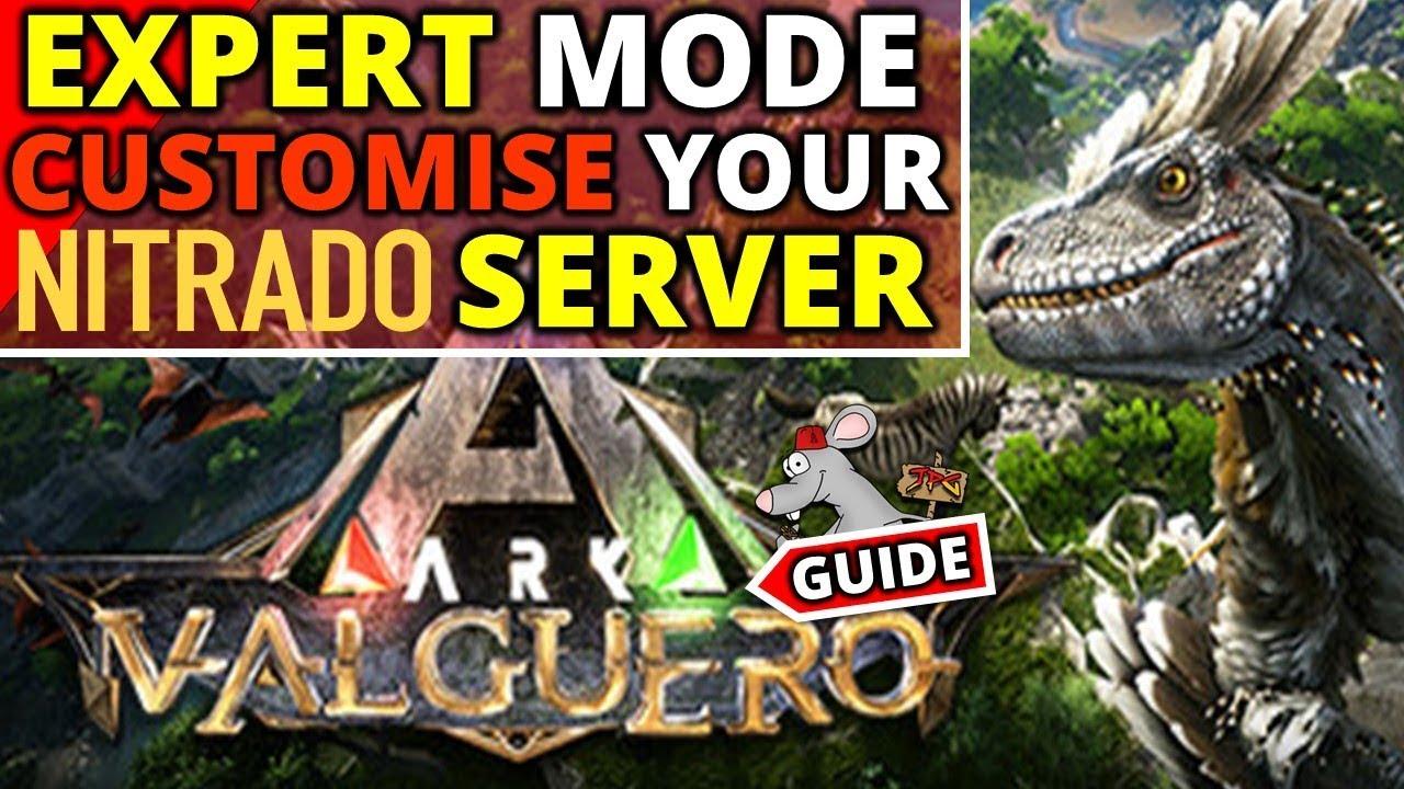 ARK EXPERT MODE Server Settings Explained! Nitrado Rentable Server Guide