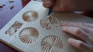 Геометрическая резьба по дереву. Урок 13 (geometric wood carving)