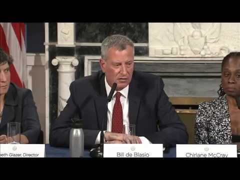 Mayor de Blasio Holds Media Roundtable to Discuss New Mental Health and Public Safety Plan