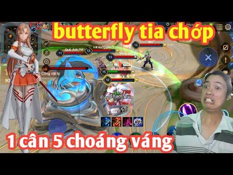 Liên Quân _ Butterfly Asuna Tia Chớp Truy Sát Cực Gắt | Lao Vào Tận Nhà Chính Không Ngán Ai
