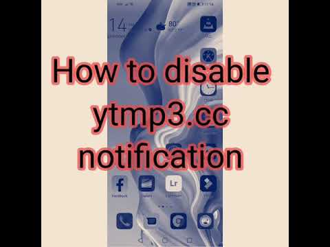 How To Disable ytmp3.cc Notification