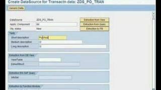SAP BW - كيفية...إنشاء عامة مستخرج من SAP R/3
