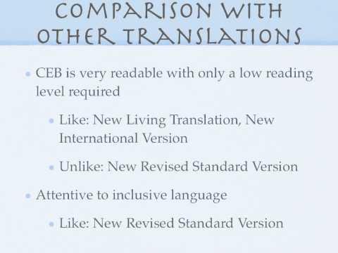 Common English Bible Presentation