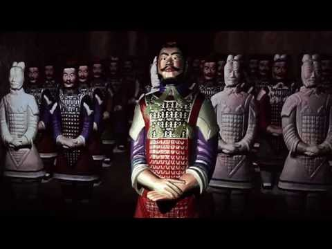 The interactive terracotta warrior at Moesgaard Museum