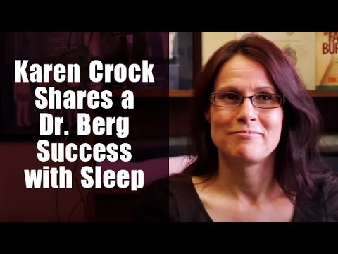 Karen Crock talks about her success with Dr. Berg with sleep