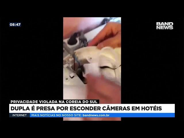 Dupla é presa por esconder câmeras em hotéis na Coreia do Sul