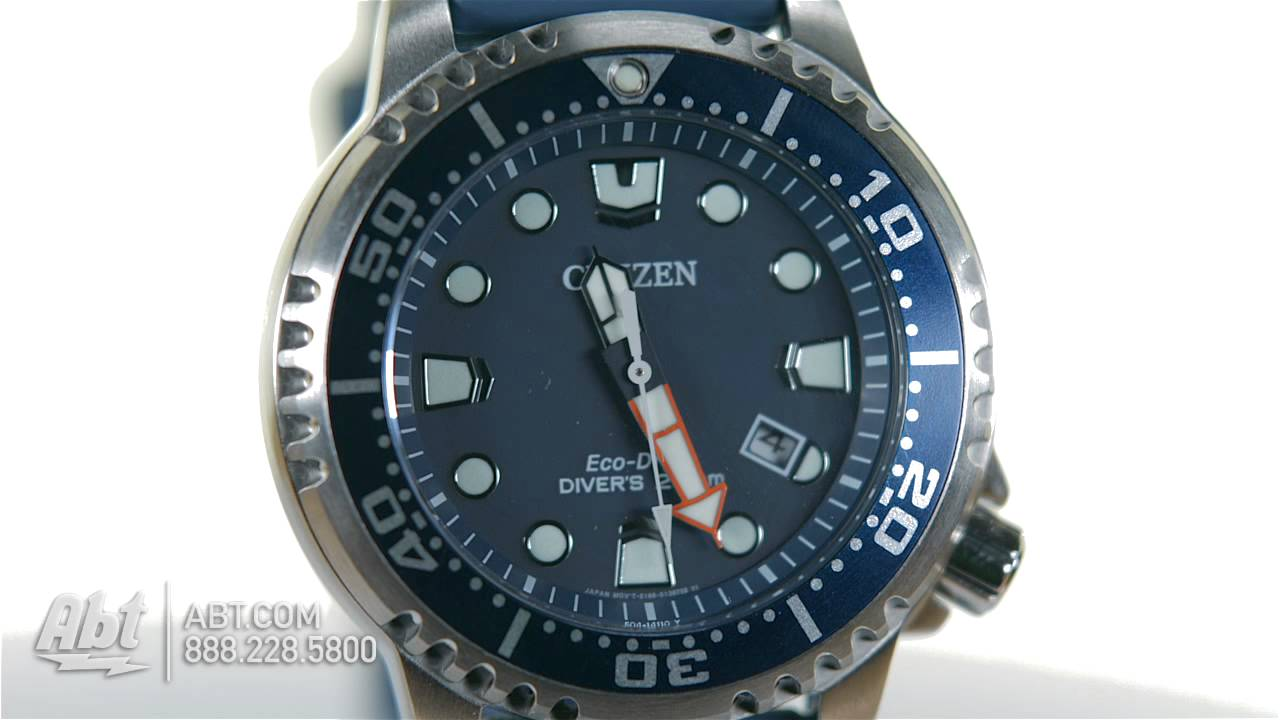 e3cd2d61868 Citizen Eco-Drive Silver Tone Stainless Steel Promaster Professional Diver  Mens Watch BN0151-09L... - YouTube