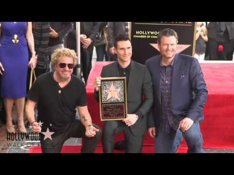 Adam Levine - Hollywood Walk Of Fame Ceremony Highlights