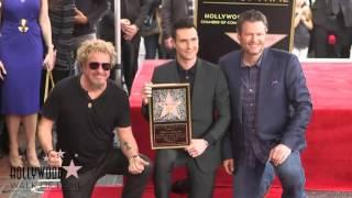 Adam Levine - Hollywood Walk Of Fame Ceremony (Highlights)