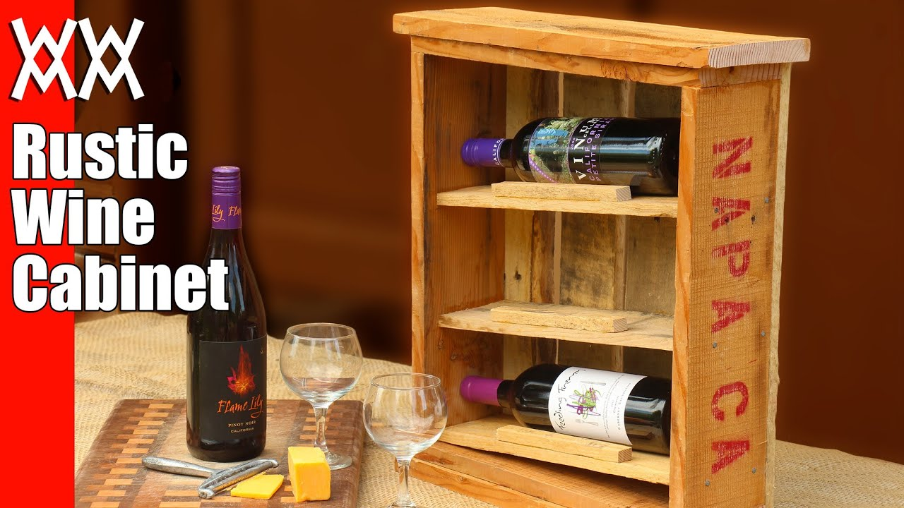 Rustic wine cabinet. Pallet wood upcycling project. Easy and fun to build! - YouTube