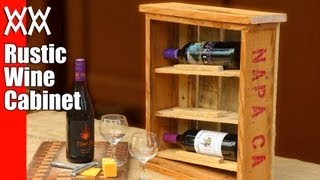 Rustic wine cabinet. Pallet wood upcycling project. Easy and fun to build!