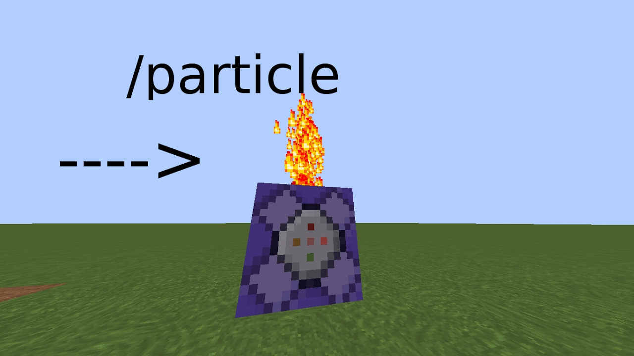 how to use the particle command in minecraft