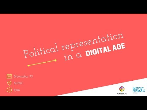 Political representation in a digital age (COSCON01 in Tallinn)