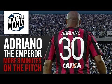 Adriano, The Emperor - More 8 minutes on the pitch (Individual highlights Vs.Vélez)