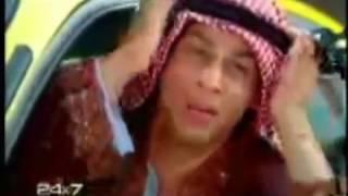 شاروخان يتكلم عربي و لابس لبس عربي